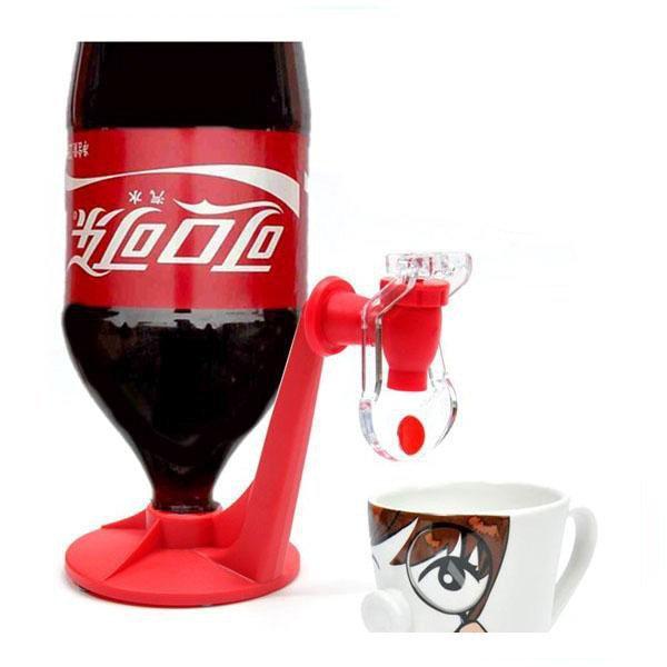 1PC Soda Dispenser Bottle Coke Upside Down Drinking Water Dispense Machine Gadget Party Home Bar OK 0242
