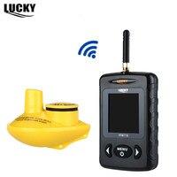 LUCKY FFW718 Wireless Ruso Buscador de Los Pescados Bajo El Agua 45 M/135FT LED Blanco Sirena de Alarma de Profundidad Sonar Río Lago Mar Pesca en alta mar