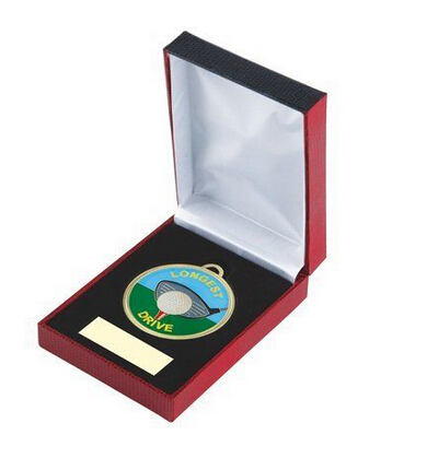 custom GOLF LONGEST DRIVE AWARD ENAMEL MEDAL & QUALITY BOX HOT SALES custom made GOLF MEDALl low price metal medals boxes