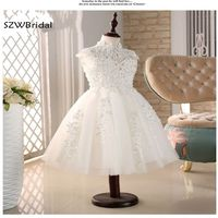 Cloud Little Flower Girls Dresses For Weddings Baby Party Frocks Sexy Children Images Dress Kids Prom
