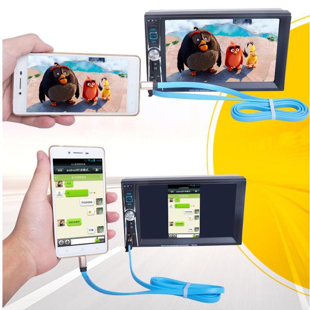 Купить с кэшбэком 6.6'' HD 2 Din Car Radio MP5 Player Mobile Phone internet Bluetooth Touch Screen Stereo Radio Player MP3/Audio/Video/USB