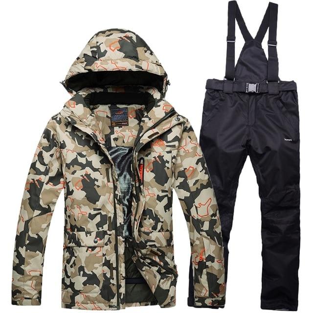 Pantalon Veste Vent Coupe Ski Homme Costume Camouflage twH6I