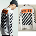 High Quality 2016 Autumn Mens Off White T Shirt Hip Hop Long Sleeve Off-White Tshirt Tee For Men US/EUR SIZE S-3XL
