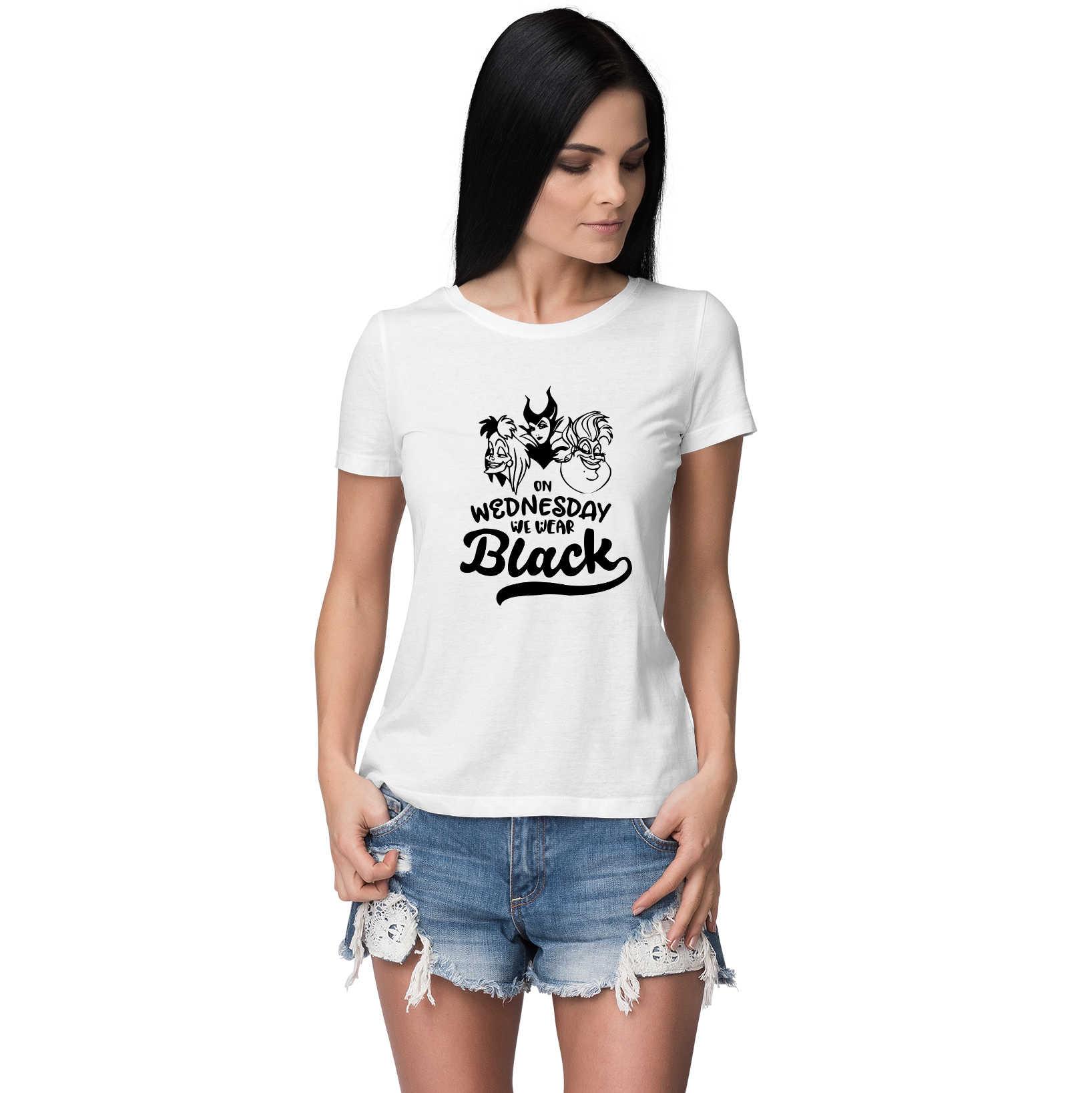 Slechte Meisjes Hebben Meer Plezier Tops Harajuku T-shirt Vrouwen Grappige Schurken Malificent Evil Queen Ursula Tshirt