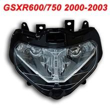 цена на For 00-03 Suzuki GSXR600 GSXR750 GSXR 600 750 Motorcycle Front Headlight Head Light Lamp Headlamp CLEAR 2000 2001 2002 2003