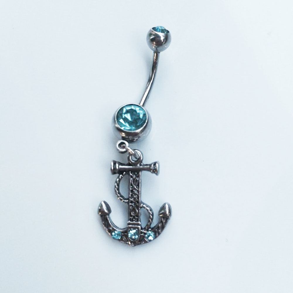 High Quality Cross Anchor Medical Steel Blue Crystal -8171