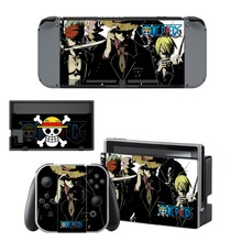 One Piece Skin Sticker For Nintendo Switch NS Console&Gamepad Controller Nintendoswitch Game Sticker Vinyl Decals Cover Protector