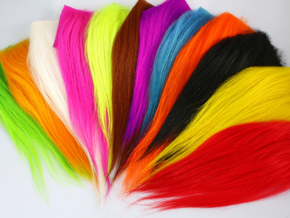 Fly Tying Material Cashmere Goat Hair for Sunray Shadow Flys and Dog Tube Fly