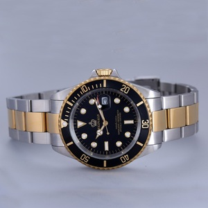 Image 5 - REGINALD นาฬิกาผู้ชาย Rotatable BEZEL GMT Sapphire Glass 50 M น้ำเต็มรูปแบบกีฬาแฟชั่นสีน้ำเงิน dial ควอตซ์นาฬิกา Reloj hombre