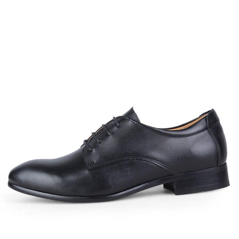 Taille Classique Habillées D'affaires Grande Black De 50 Véritable Bureau Pour Mariage Chaussures En Homme Soirée marron 3 blanc Cuir Oxford Hommes CffqP