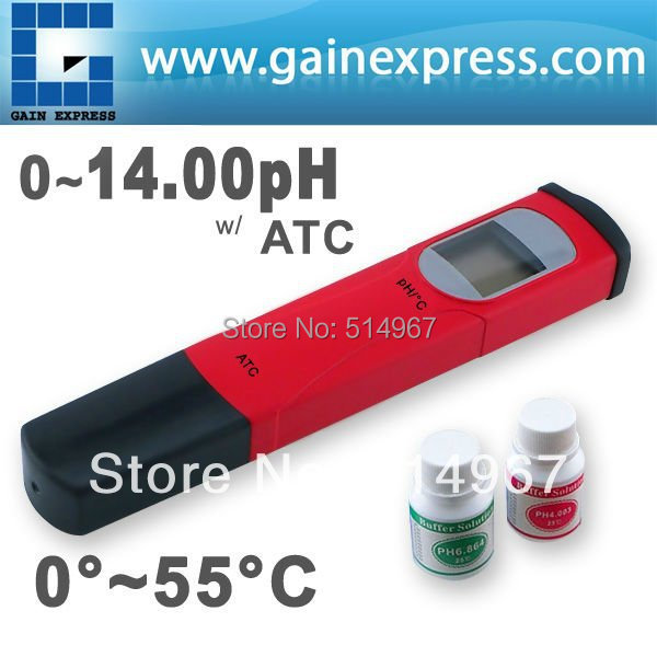 High Accuracy Handheld Digital Pen-type pH Meter Tester Thermometer Temperature degree C 0.00-14.00 pH range + Built-in ATC free shipping ph stick ph meter ph pen tester pen type range 2 1 10 8ph waterproof atc accuracy 0 1ph