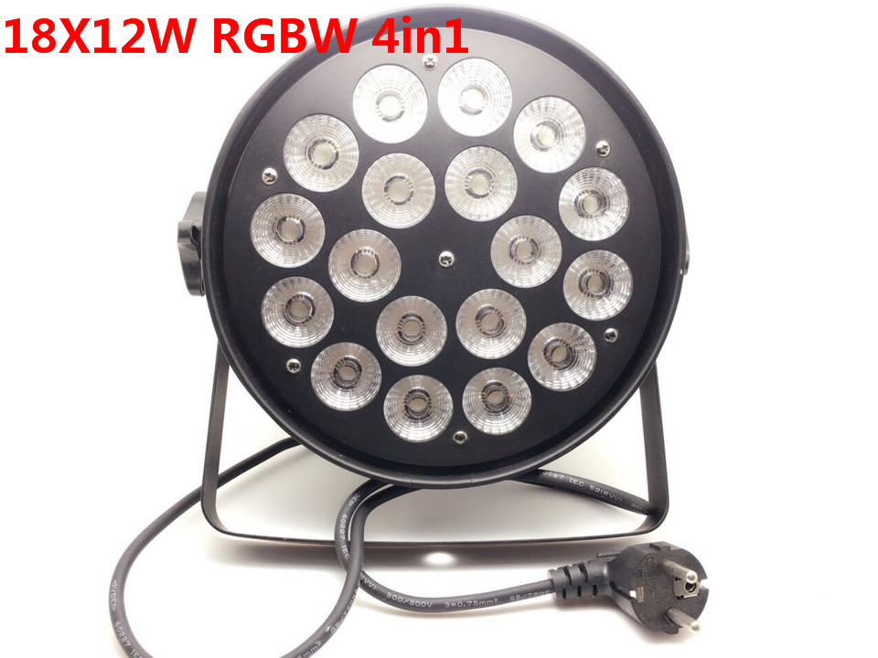 Aluminum shell 18x12W RGBW Led Par Light DMX Stage Lights Business Lights Professional Flat Par Can for Party KTV Disco DJ Lamp 8pcs lot 18x12w rgbw 4in1 led par light dmx stage lights business lights professional flat par can for party ktv disco lamp