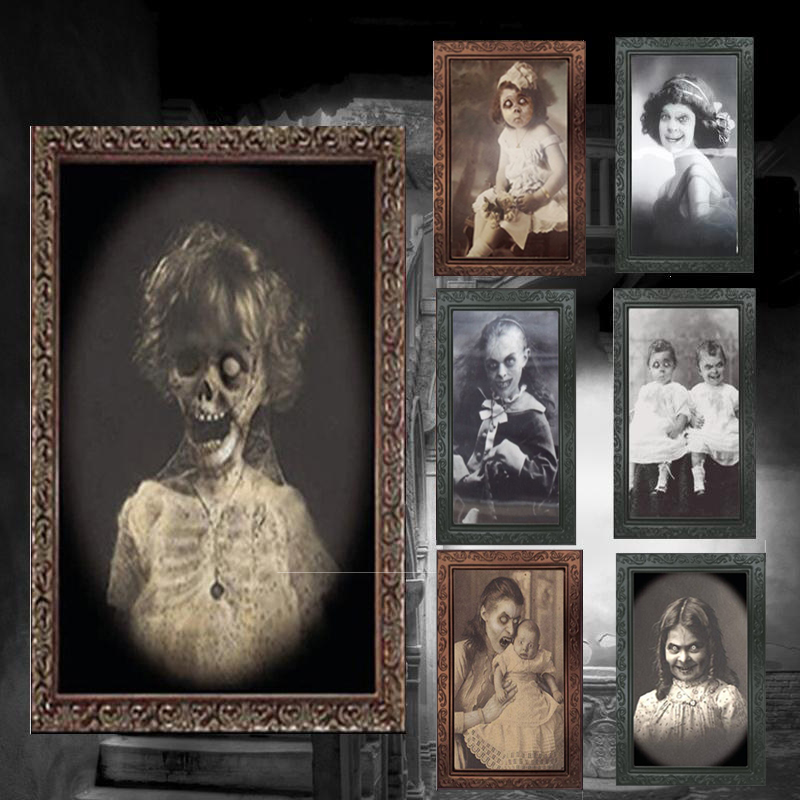 3D Ghost Photo Frame Horror Pictures Frames Changing Face