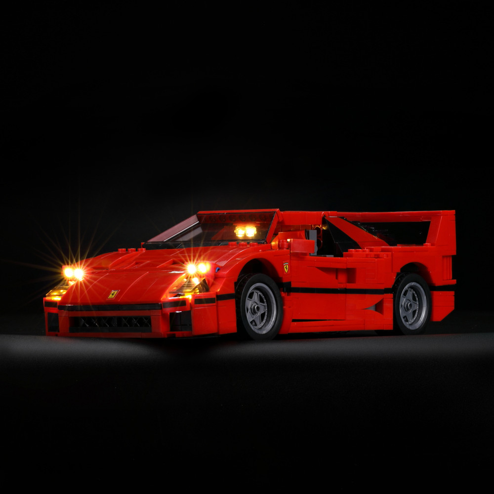 Led Light Kit For lego and lepin Creator Series F40 Car Compatible With 10248 and 21004 Building Block doinbby store 21004 1158pcs with original box technic series f40 sports car model building blocks bricks 10248 children toys