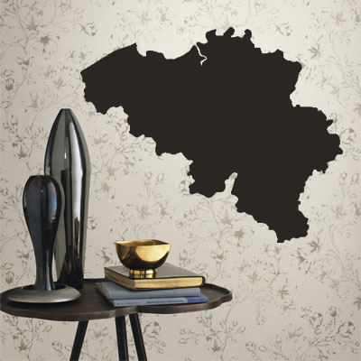 Belgium map Globe Earth Country wall vinyl font b sticker b font font b custom b