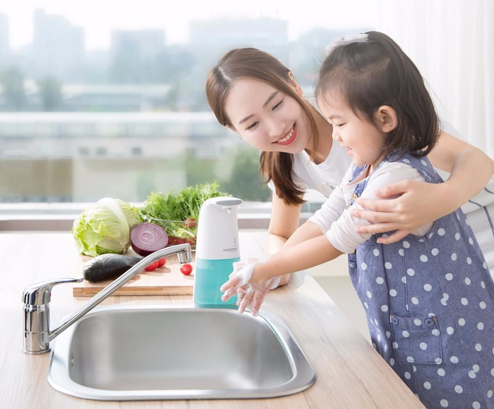 (Best Price) Xiaomi Ecological Brand MiniJ Auto Induction Foam Hand Washer Wash Soap Dispenser For Smart Home