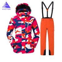 Лыжный костюм Для женщин Бренды 2018 г. Новая сноуборд куртка Водонепроницаемый куртка для снежной погоды лыж Спортивная дышащая супер тепла