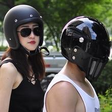 TT CO 500TX moto rcycle шлем стекловолокно Винтаж Ретро КАСКО Мото шлем 3 оснастки скутер Половина Лица Ретро capacete de moto cicleta