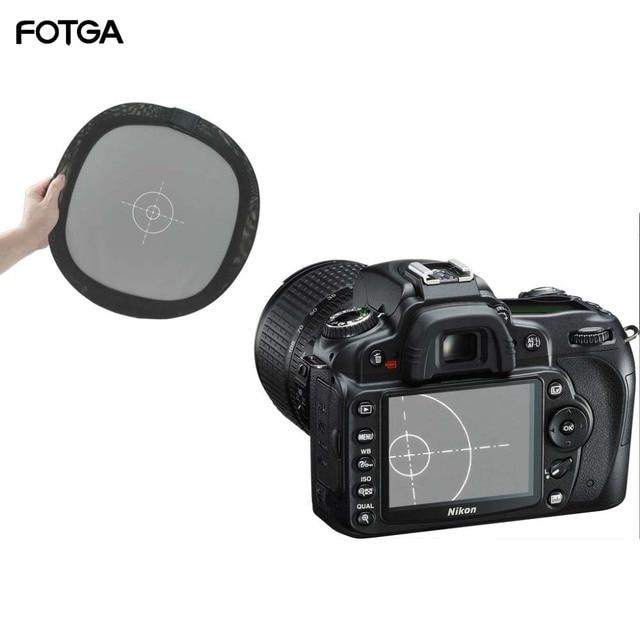 """FOTGA 12 """"18% Grau/Weißabgleich Karte Zwei Seiten Doppel Gesicht Fokus Bord für Foto ausrüstung"""