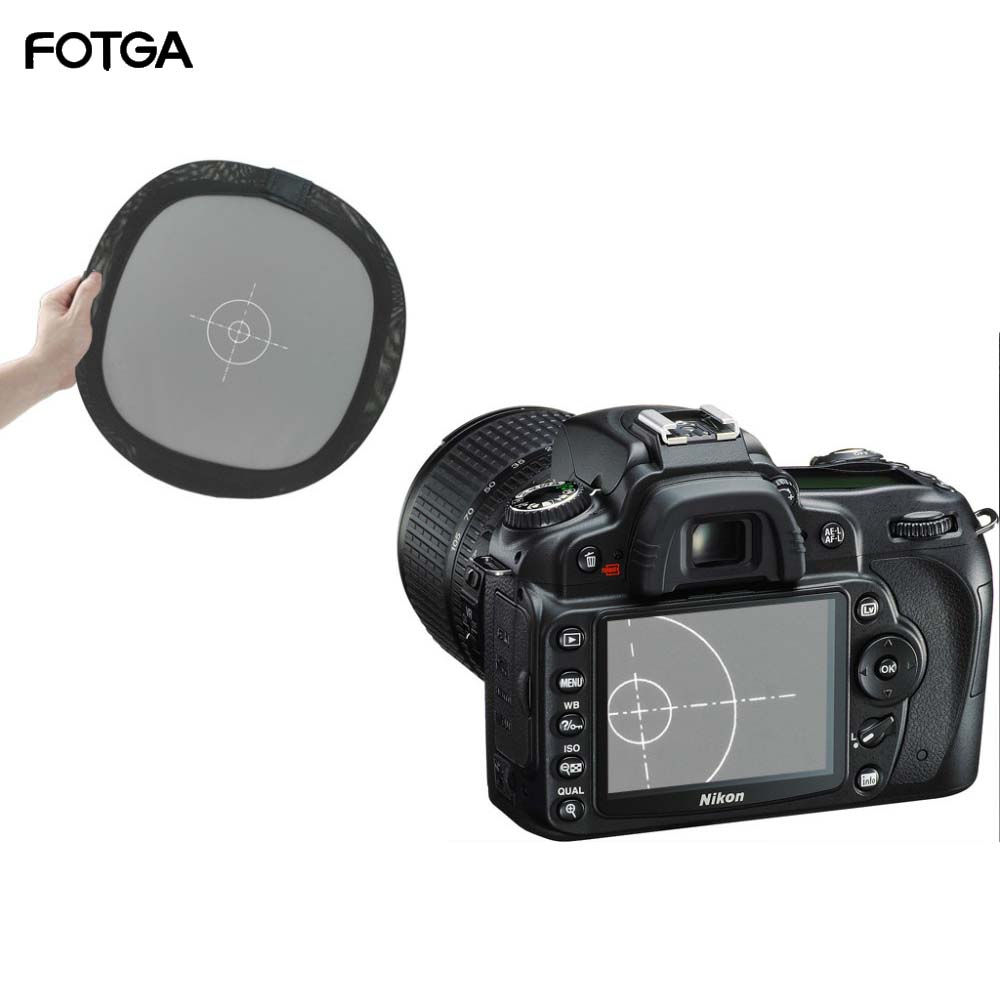 FOTGA 12 18% Grey/White Balance Card Two Sides Double Face Focus Board for Photograph equipment