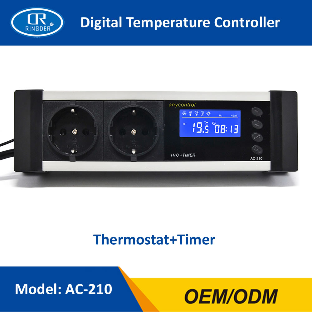 RINGDER AC-210 0-50C ON OFF Reptile Thermostat with Timer AU EU UK US Plug Socket Sensor Regulator Pet Temperature Controller цены