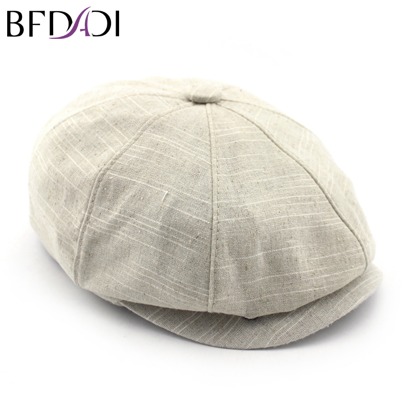 BFDADI Adult Popular Newsboy Cap Spring And Summer Linen Octagonal Cap Tidal Outdoor  Fashion Hats Free Shipping