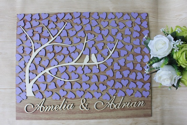 personalized 3d wedding guest book alternatives woodguestbooks treecustom rustic bridal shower party