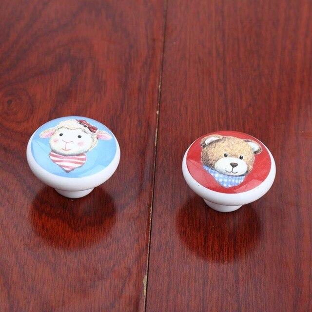Schöne cartoon keramik chirldren zimmer möbel knöpfe bär schafe ...