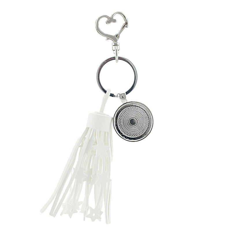 Tafree requintado senhora retrato foto em forma de coração fecho chave fivela borlas chaveiros saco charme pingente na moda jóias pe13