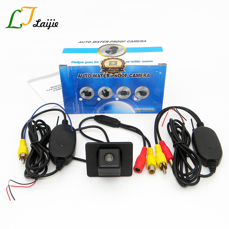 Laijie Wireless Car Reversing Camera For Mazda Demio Mazda2 DJ 2014~2017 HD CCD Night Vision Vehicle Rear View Parking Camera