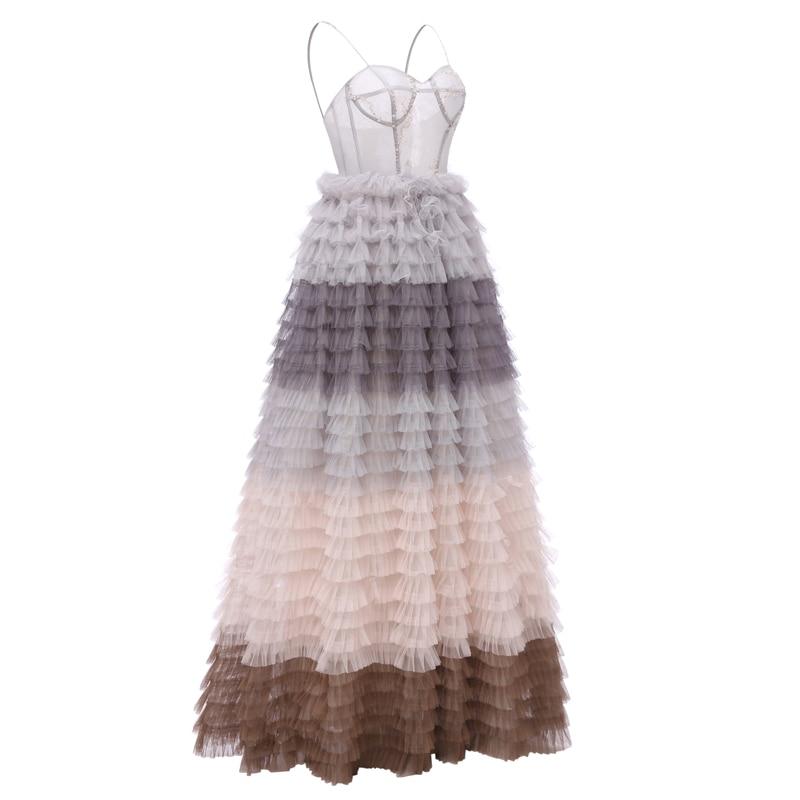 Suknia Balowa Spódnica Sunvary Spaghetti Strap Sukienki Na Bal - Suknie specjalne okazje - Zdjęcie 3