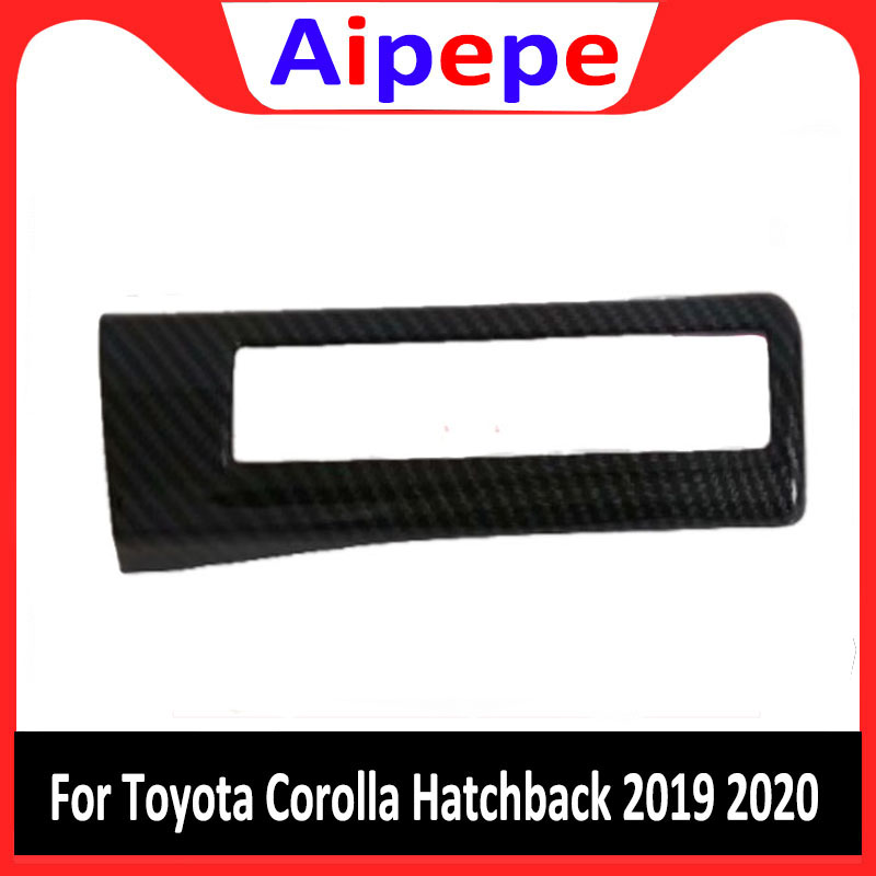 For Toyota Corolla 2019 Car styling Inner Centre Control Decoration Cover Molding Multifunction Headlight Button Frame Trims|Chromium Styling| |  - title=