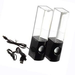 Image 5 - 2ピースledライト水上の音楽噴水ライトスピーカーダンシングpcノートパソコン用電話ポータブルデスクステレオスピーカー
