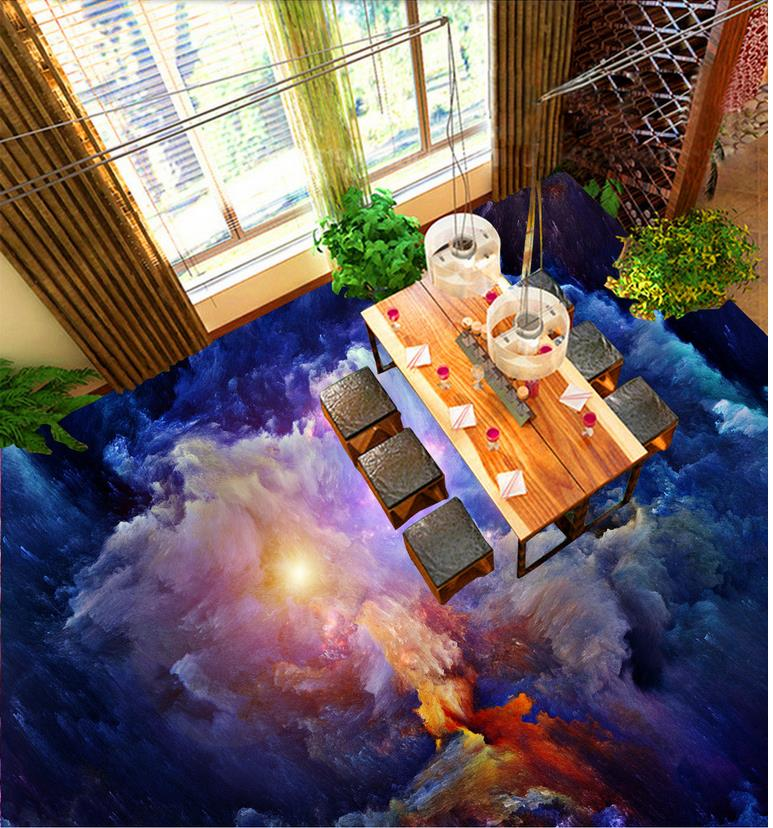 50faba85623d9 Niestandardowe Zdjęcie Piętro 3D Tapety Nowoczesne Art niebo chmury podłoga  PCV naklejki Murale malowanie