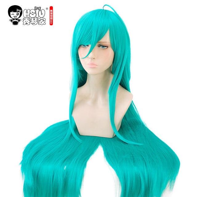 HSIU Arazi Parlak Alexandrite Cosplay Peruk Houseki hiçbir Kuni Kostüm Oynamak Peruk mavi yeşil uzun peruk Cadılar Bayramı kostümleri Saç