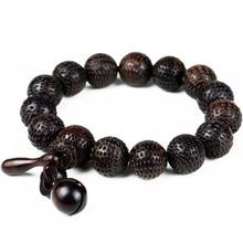 Retro Jewelry Buddha Bracelet Yoga Wood Bead Mala Charm Bead Bracelet Men's Jewelry Pulseras Hombre 13mm