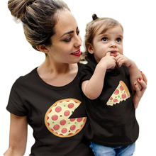 2019 Mommy and Daughter Matching Clothes New Short-sleeved O-neck Print Casual Simple Parent-child Wear Family Matching Clothes linda johnston o alias mommy