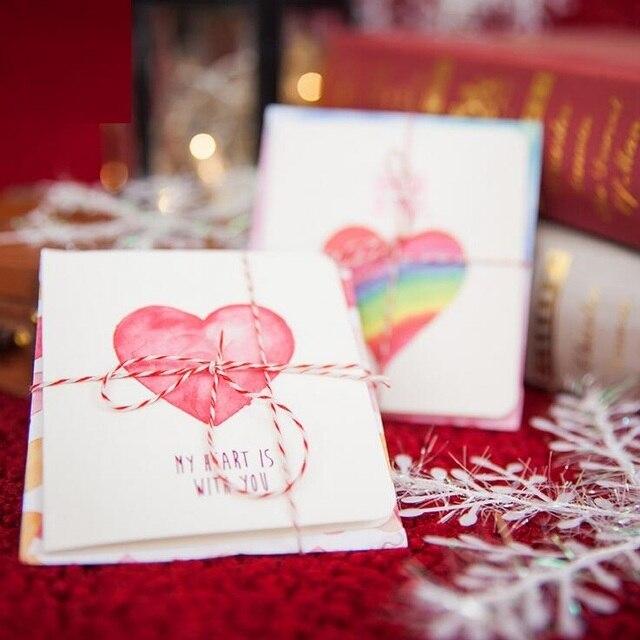 1setlot romantic greeting card set envelope with rope students diy 1setlot romantic greeting card set envelope with rope students diy cards for festival wishes m4hsunfo