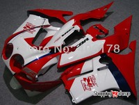 Hot Sales,ABS fairing for Honda CBR 250 RR CBR250RR MC19 1988 1989 88 89 Red white Motorcycle Fairing (Injection molding)