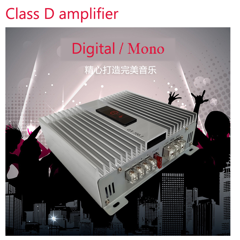 Class D Digital  MONO Car audio Amplifier 400 watts high Power Car Subwoofer Amplificado Amplifiers