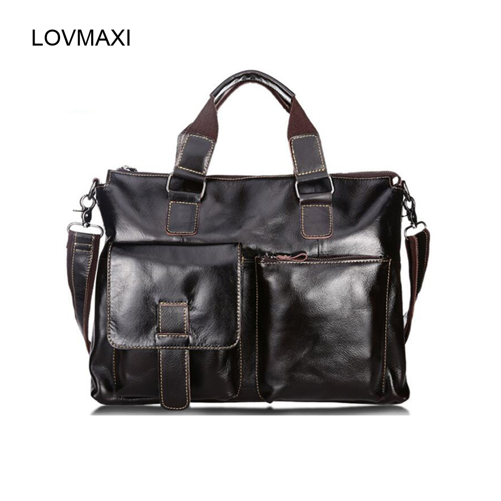 LOVMAXI New Genuine Cow Leather Handbags Mans Oil Leather  Men Messenger Bags Large Causal Male Business Bag Shoulder Bags LOVMAXI New Genuine Cow Leather Handbags Mans Oil Leather  Men Messenger Bags Large Causal Male Business Bag Shoulder Bags