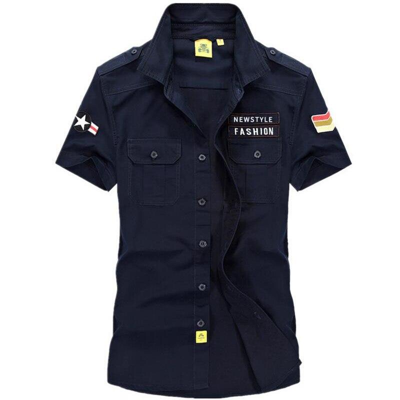 Új nyári póló Férfi alkalmi ingek Pure pamut fordított gallér - Férfi ruházat