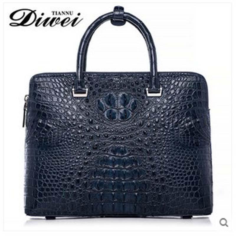 2018 diwei  new hot free shipping crocodile briefcase bag business casual men handbag large capacity computer bag quality goods