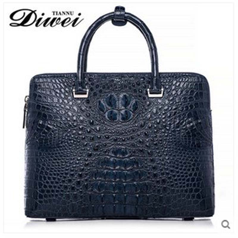 diwei 2017 new hot free shipping crocodile briefcase bag business casual men handbag large capacity computer bag quality goods hot pgm golf clothes pack men s double shoes bag extra large capacity bag pack portable clothes shoes handbag free shipping