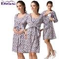 Эмоции Беременных Платья Для Кормящих Мам Хлопка кормящих Одежда Для Беременных беременность платье для Беременных Женщин Кормящих Платья