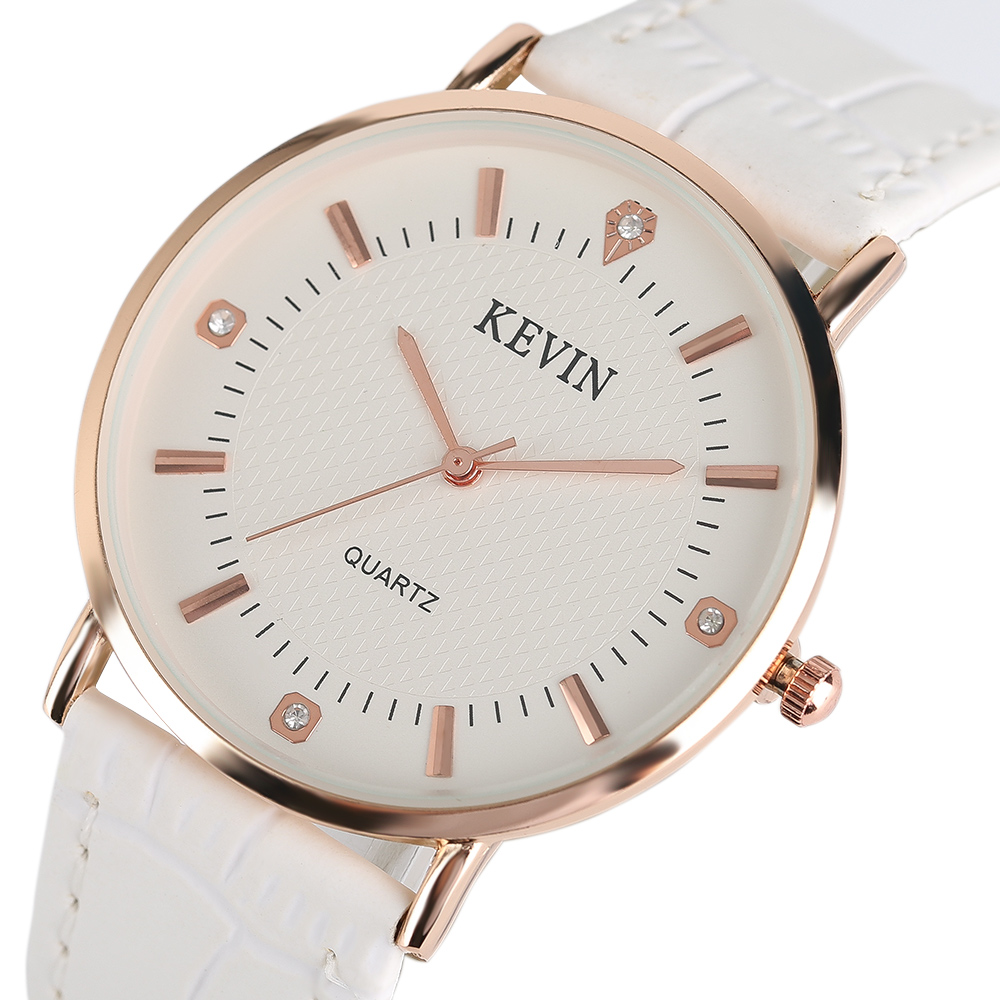 KEVIN New Fashion Womens Wrist Watches Leather/Stainless Steel Mesh Watchband Simple Ladies Geneva Quartz Clock relogio feminino