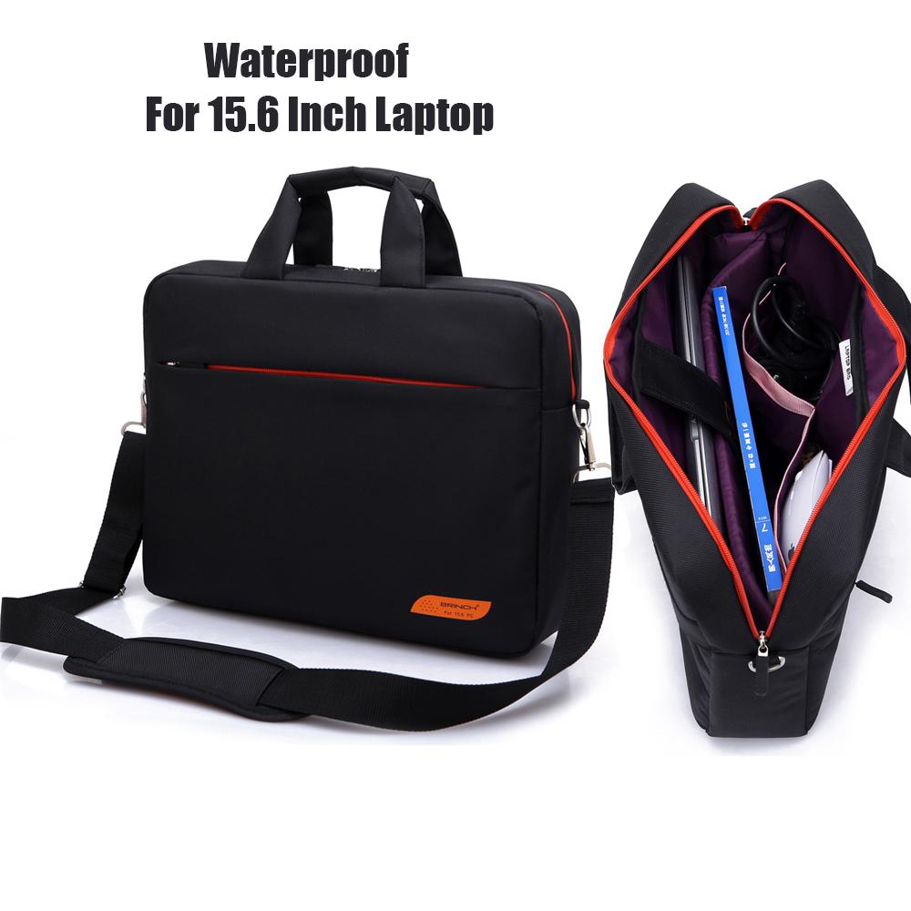 Prix pour Brinch marque 15 15.6 ordinateur portable sac à main avec bandoulière couvrir avec poche magasin beurre pour macbook pro air reina hp sony