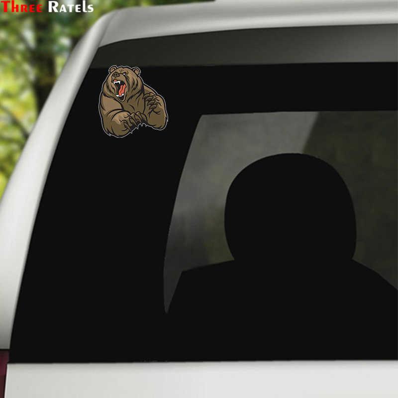 Tiga Ratels LCS385 #13X13.6 Cm Beruang Marah Warna-warni Mobil Stiker Mobil Lucu Stiker Penataan Stiker Yang Bisa Dilepas
