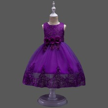 Lace Teenagers Kids Girls Wedding  Dress elegant Princess Party Pageant Christmas Formal Sleeveless Dress Clothes kids girls elegant wedding flower girl dress princess party pageant formal sleeveless lace tulle dress 2 14 years vestidos nina