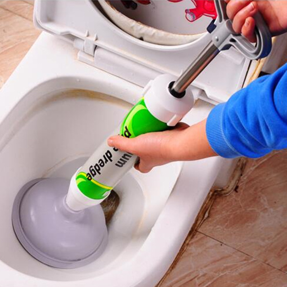 Powerful Manual Drain Buster And Strong Plunger Toilet With Suction Cup 2